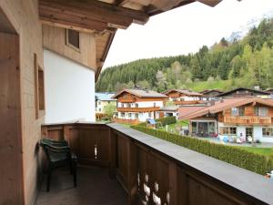 A balcony or terrace at Sunny Apartment in Leogang near Ski Lift
