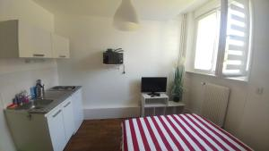 A kitchen or kitchenette at Cosy Studio Amiens