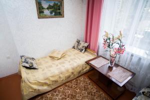 Кровать или кровати в номере Apartment Lenina 18