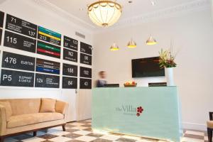 O saguão ou recepção de The Villa Kensington