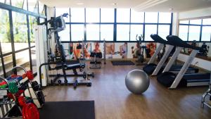 The fitness center and/or fitness facilities at Littoral Tambaú Flat