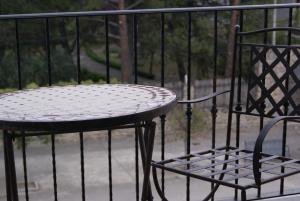 Un balcón o terraza de Hostal Peñacárdena