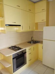 Кухня или мини-кухня в Apartments Landyshevaya 28
