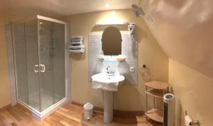 Salle de bains dans l'établissement Hotel Spa Le Relais Des Moines
