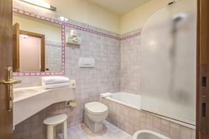 Um banheiro em Hotel De Lanzi