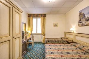Uma área de estar em Hotel De Lanzi