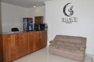 El vestíbulo o zona de recepción de Villa Meztli