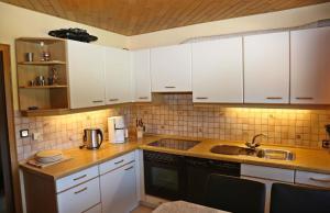 Küche/Küchenzeile in der Unterkunft Panoramablick