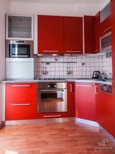 Kuchyň nebo kuchyňský kout v ubytování Vila Magnolie