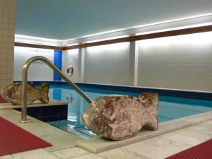 Der Swimmingpool an oder in der Nähe von Hotel Meran Hallenbad & Sauna