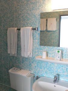 Ein Badezimmer in der Unterkunft Hotel Meran Hallenbad & Sauna