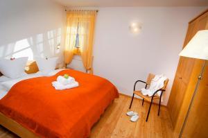 Ein Bett oder Betten in einem Zimmer der Unterkunft Naturresidenz Theistadl