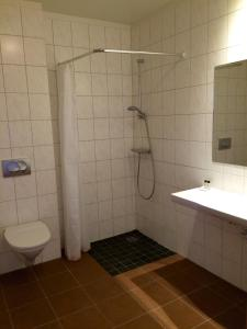 A bathroom at Hotel Smyrlabjörg