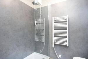 A bathroom at Arnarstapi Hotel
