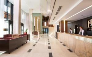 The lobby or reception area at DoubleTree by Hilton Novosibirsk