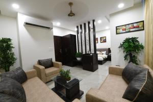The lobby or reception area at Madhav Muskan Residency