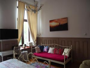 Łóżko lub łóżka w pokoju w obiekcie Pokoje Gościnne P.O.W. 17