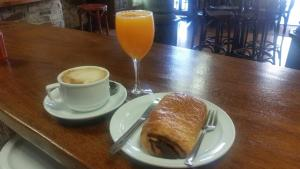 Breakfast options available to guests at Hostal Virgen de la Encina