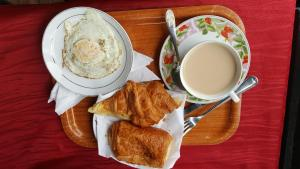 Options de petit-déjeuner proposées aux clients de l'établissement Residence Saint-Jacques Bord de Mer