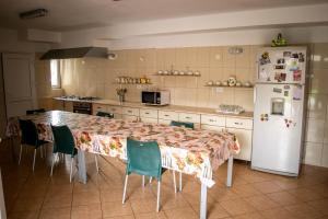 O bucătărie sau chicinetă la Pensiunea Bujorul