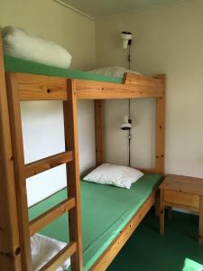A bunk bed or bunk beds in a room at Grinda Stugby & Vandrarhem