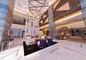 A restaurant or other place to eat at Radisson Blu Hotel, Dubai Waterfront