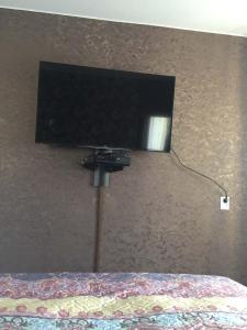 Телевизор и/или развлекательный центр в Уютные 1-комнатные апартаменты