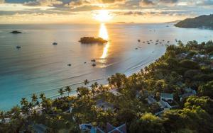 A bird's-eye view of Paradise Sun Hotel Seychelles
