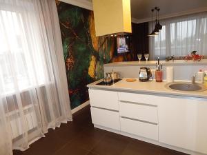 Кухня или мини-кухня в AAA Elita on Romanova 60k1