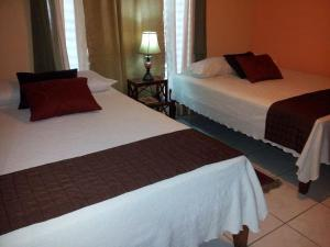 A bed or beds in a room at Posada Las Iguanas