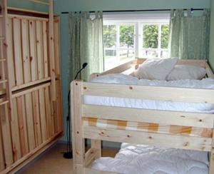 Säng eller sängar i ett rum på Vimmerby Vandrarhem