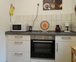 Küche/Küchenzeile in der Unterkunft Ferienwohnung in Hahnheim, Rheinhessen