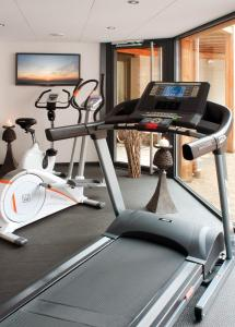 The fitness center and/or fitness facilities at Logis Hotel Le Parc & Spa