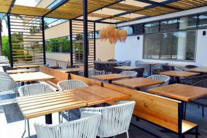 Een restaurant of ander eetgelegenheid bij Hotel Club Cala Marsal