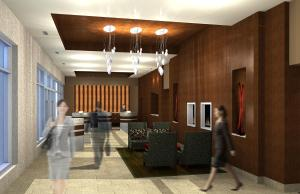 The lobby or reception area at River Rock Casino Hotel