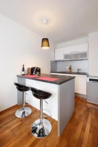 Kuchnia lub aneks kuchenny w obiekcie Modern flat near Prague Castle