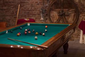A billiards table at Castello di Guarene