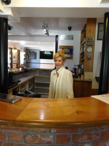 The lobby or reception area at The Railway Inn