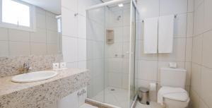 Um banheiro em Umbu Hotel Porto Alegre Centro Histórico