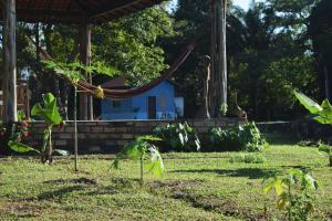 A garden outside Pousada Holístico Marajó