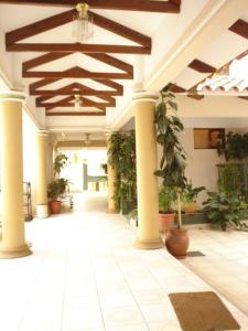 El vestíbulo o zona de recepción de Hostal España