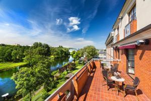 Balkon lub taras w obiekcie Hotel Słoneczny Młyn