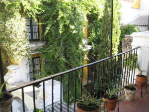 A balcony or terrace at Pensión Bienvenido