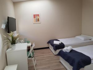 Łóżko lub łóżka w pokoju w obiekcie Pokoje U Filipa