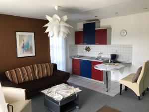 Küche/Küchenzeile in der Unterkunft Appartementhaus Laura-Sophia