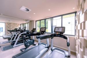 The fitness center and/or fitness facilities at SCHLOSS Fleesensee