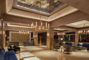 The lobby or reception area at The Marquette Hotel, Curio Collection by Hilton