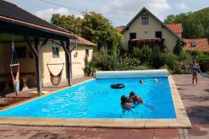 Der Swimmingpool an oder in der Nähe von Ferienwohnungen Lindleshof