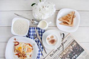 Breakfast options available to guests at Ahotels Design Style on Sovetskaya