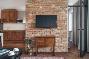 Telewizja i/lub zestaw kina domowego w obiekcie Apartament Kazimierz Superior